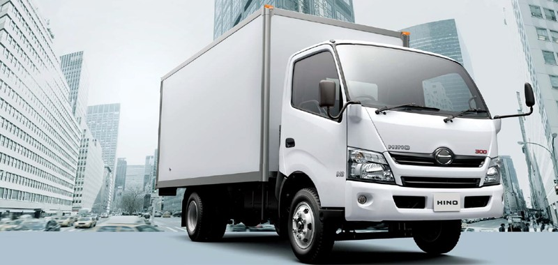 Hino commercial truck rental at Goldbell Singapore